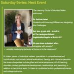 Dr. Katen present at The Lexington School's Saturday Series