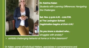 Dr. Katen present at The Lexington School's Saturday Series