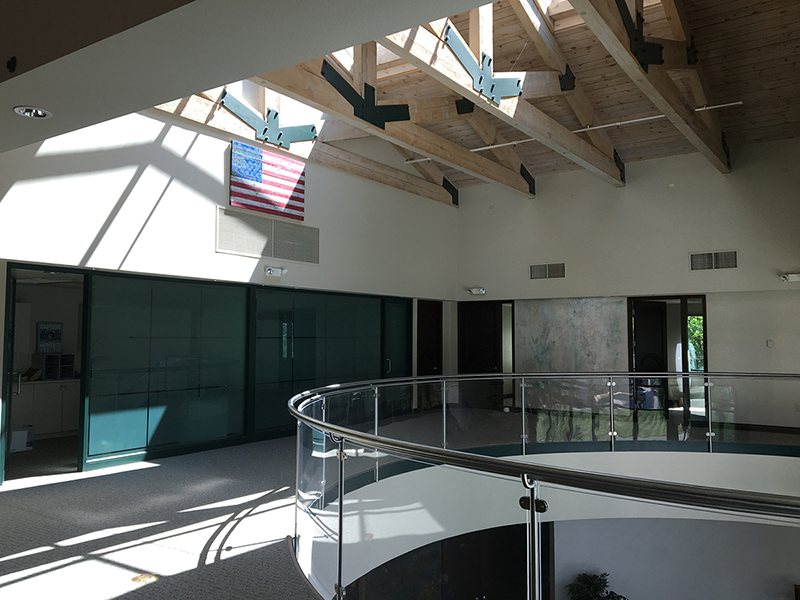 Staircase landing leading to the office of Individual Matters in Grand Junction, Colorado